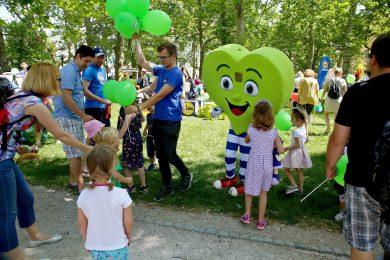 Otroci so uživali v družbi Zdravka Lidla. Foto: Barbara Zajc