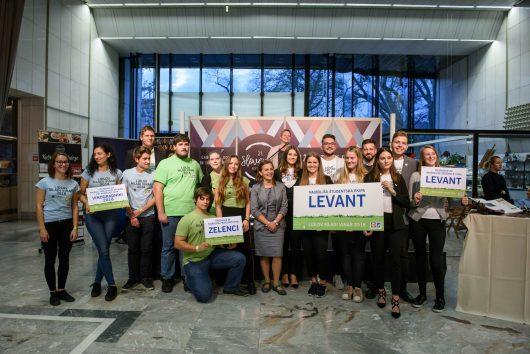 Letos so se v sklopu natečaja pomerile tri študentske ekipe, žirijo pa je najbolj navdušila ekipa Levant iz Biotehniške fakultete Univerze v Ljubljani.