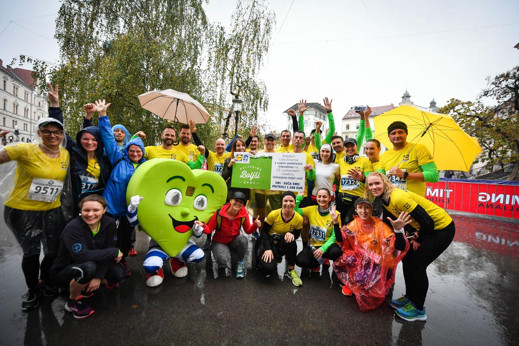 23. Ljubljanski maraton je kislemu vremenu navkljub poskrbel za ogromno dobre volje.