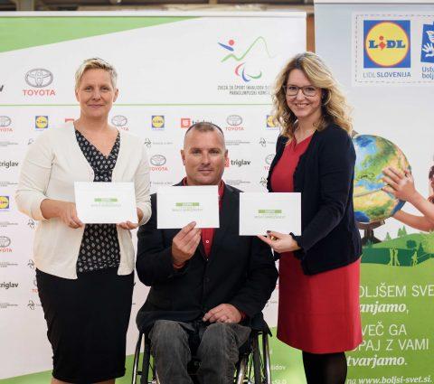 ZŠIS-POK in Lidl Slovenija spodbujata mlade invalide k vključevanju v šport.