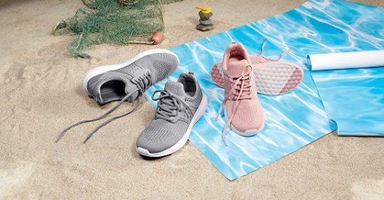 Čevlji iz reciklirane plastike.